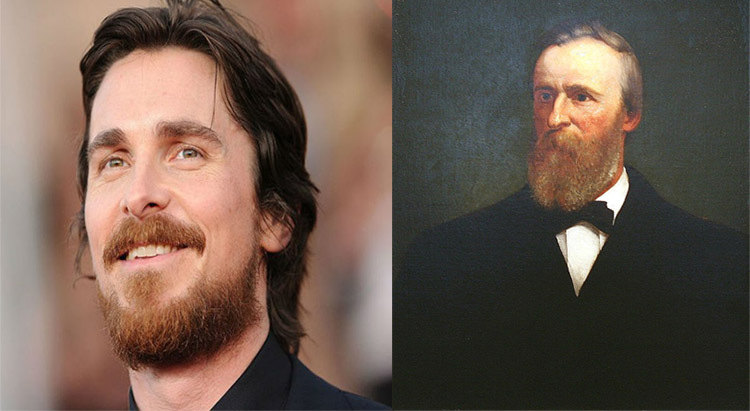 Christian Bale as Rutherford B. Hayes
