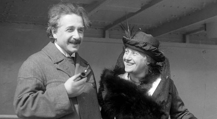 Einstein with his wife Elsa