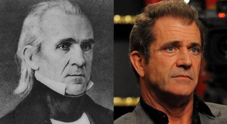 Mel Gibson and James Polk