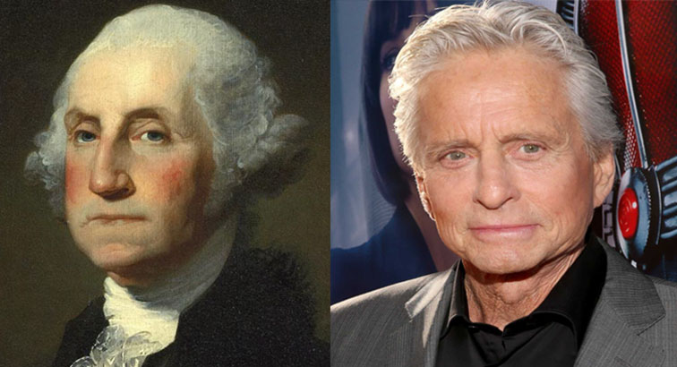 Michael Douglas as George Washington