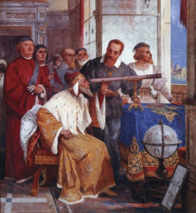 Galileo showed how to use the telescope