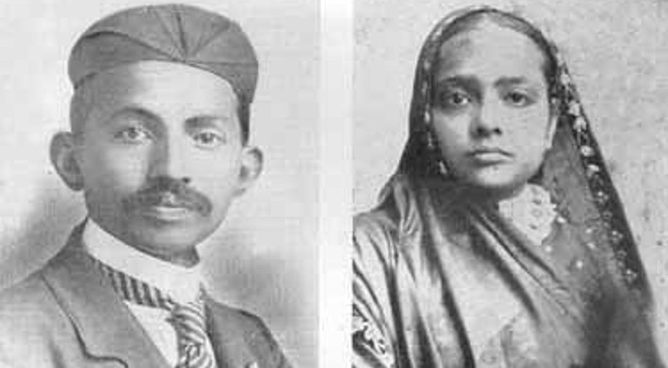 Gandhi and his wife Kasturba