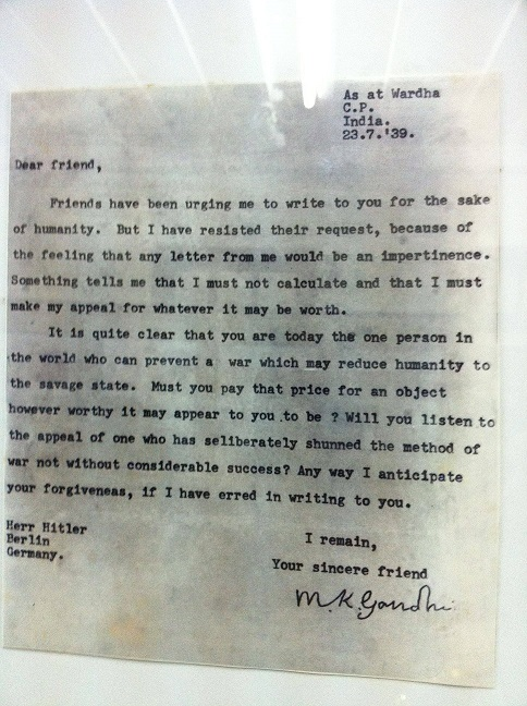 The letter Gandhi wrote to Hitler from Wardha Prison